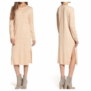 Knot sisters Darrien barely blush shift dress